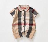 Baby Boys Plaid Romper Enfants Enfants Jumpsuits Simple Brotteux Designer Infant Onesie Casual Vêtements Casual
