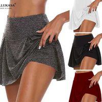 Skirts 2021 Women Sports Tennis Female Lining High Dance Fitness Short Quick Drying Solid Waist Mini Golf Sporting
