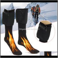 Atletik Açık Spor OutdoorsElektrik Pamuk Isıtmalı Çorap Spor Kayak Kış Ayak Isıtıcı Elektrikli Isınma Çorap Pil Güç Erkekler Kadınlar