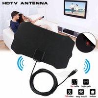 1080 P Kapalı Dijital TV Anten Sinyal Alıcı Amplifikatör Yarıçapı Sörf Tilki Antena HDTV Antenler Hava Mini DVB-T / T2