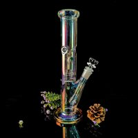 Nuovo arrivo nuovo stile tre a nido d'ape perc petrolio di vetro di vetro Bongs verde / blu 17 pollici alto 18,8 mm di vetro narghilè con ciotola di vetro