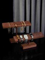 الصلبة الخشب الأسود الجوز أساور أساور ديسبالي حامل مجوهرات حامل سلسلة عرض الرف