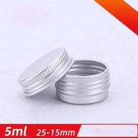 5g Small Round Silver Aluminum Packing Bottles with Screw Cap Cosmetic Tin Can Box Makeup Cream Sample Test Jar