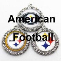 Football Dangle Charms Style Style Steeler Diy Pendentif Bracelet Collier Boucles d'oreilles Bijoux Making Accessoires