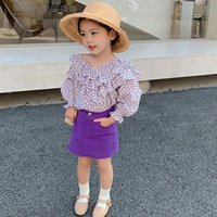 Clothing Sets Girls Autumn Clothe Set Floral Blouse Shirt And Pencil Skirt 2021 Brand Kids Girl Party Dress For Toddler