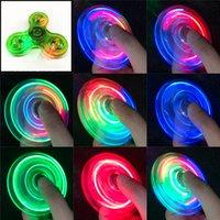 Luminous LED Fidget Spinner Hand Toy Top Głębki Glow W Dark Light EDC Figet Puller Finger Stress Stress Zabawki