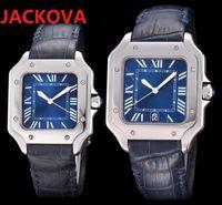 Mens Fashion womens Japan Quartz Movement Watches DAYDATE President square roman dial designer rose gold Watch Folding Clasp man 904L steel case Wristwatches
