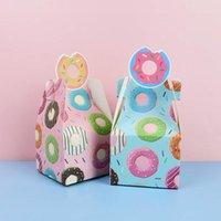 Hediye Wrap 8 adet / takım Donut Kağıt Şeker Kutusu Mutlu Doğum Günü Tatlı Paket Malzemeleri Düğün Bebek Duş Favor Dekorasyon