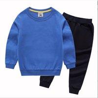 Yeni Bebek Sonbahar Giyim Seti Çocuk Erkek Kız Uzun Kollu Hoodie Üst + Pantolon 2 Adet Takım Elbise Moda Eşofman Kıyafetleri 1-8 T
