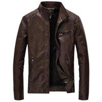 Marka Ceket Erkekler Sonbahar Kış Rahat Deri Erkek Standı Yaka Kalın Hissiyet Ceket Jaqueta Masculina Artı Boyutu 5XL Giysi Erkek Ceketler