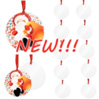 2021 Sublimation Blank Pendant Blank Christmas Ornament Customized Tree Decorations DIY Personalized Blank Wooden Christmas Pen Wholesale