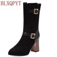 أحذية كبيرة الحجم 33-50 للنساء مثير عالية الكعب 8 سنتيمتر دافئ قصير الخريف الشتاء الأحذية أشار تو منصة فارس T9-211