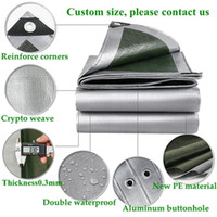 Tents And Shelters PE Tarpaulin Rainproof Cloth Outdoor Garden Plant Shed Boat Car Truck Canopy Waterproof Sun Shade Pet House Cover 0.32mm