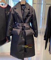 Giacche da donna Giacche invernali Cappotti Cappotti Lunghi Cappotto di Modo caldo Parka con la cinghia Lady Cotone Capispalla grande tasca