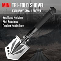 Multifunctional Manual Shovel Folding Portable Stainless Steel Wild Survival Shovels Garden Planting Vegetables Digging Axe Outdoor Tools FY8418SBB