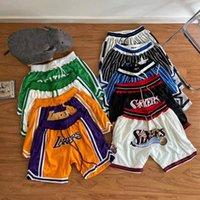 Todas as equipas apenas curta Hip Hop Hif School College Don Retro ao ar livre esportes executando basquete calções calça calça mens 2021 com bolso zipper costurado tamanho s-xxl