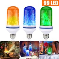 96 99 108LEDs E27 Flame Lamps 15W 85-265V 4 Modes Ampoule LED Flame Effect Light Bulb Flickering Emulation Fire Light dropship