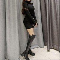 sexy winter knitting skinnly Womens Dress Bodycon Cotton Long Sleeve Girls t shirt Autumn fitting