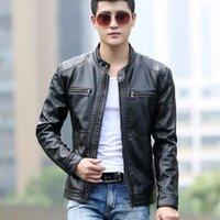 Men's Jackets Leather Jacket Men Design Stand Collar Coat Male Casual Motorcycle Mens Fashion Veste En Cuir Moto