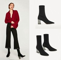 women fashion comfortable black suede leather ankle boots lady cool autumn & winter high heel martin boots botas R4xh#