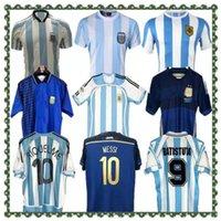 1986 2014 Argentinien Retro Fussball Jerseys Messi Maradona Caniggia 1978 1996 Fußballhemd Batistuta 1998 Riquelme 2006 1994 Ortega Crespo