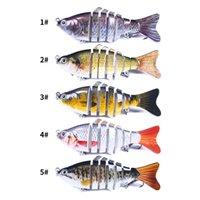 5 قطعة / الوحدة متعدد القسم الأسماك الصلب الطعوم السحر 5 اللون مختلط 10 سنتيمتر 15.4 جرام 6 # هوك الأسماك السنانير pesca الصيد معالجة الملحقات JM023