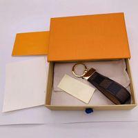 2021 Keychain de luxo Alta Qualtiy Anel Titular Designadores de Marca Chaveiro Porte Clef Presente Homens Mulheres Saco de Carros Chaveiros Tem Caixa