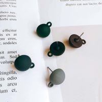 Runde Form Harz Kunststoff Bolzen Ohrringkomponenten DIY Material Anhänger Halskette Ohrhörer Charms Schmuck Fundungen Komponente 10 stücke