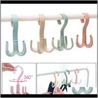 Hangers & Racks Handbag Bag Holder Space Saving Hanger Cabinets Clothes 360 Degree Rotation Shoes Belt Scarf Hanging Rack Keuap 4Fbc3