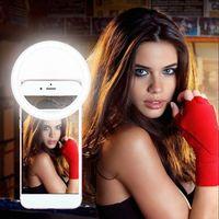 LED 조명 휴대용 참신 조명 셀프 램프 USB 충전식 반지 셀프 채우기 가벼운 카메라 사진 AAA 배터리