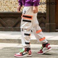 Gorthwid tasche laterali da uomo cargo harem 2018 hip hop maschio tatical joggers pantaloni moda casual streetwear pantaloni