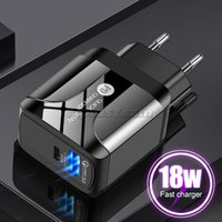 18W Fast Quick charger PD type c Power Adapter Wall Chargers For Iphone Htc Lg pc mp3