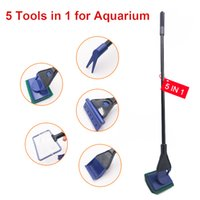 5-in-1 حوض السمك خزان الأسماك أداة نظيفة، تنظيف كيت الوظيفية خمسة أدوات التنظيف صافي .Rake .scraper .vonge
