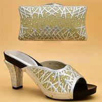 Dress Shoes Arrival Italian Designer and Bags Set di corrispondenza Set decorato con strass borsa africana woen per matrimonio