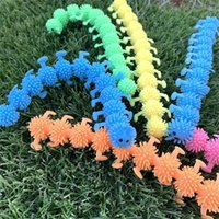 Creative Fidget Sensory Toy Noodle Rope Stress Reliever Vent Caterpillar Unicorn Decompression Pull Ropes Anxiety Relief Prank Toys H388PUX