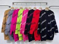 새로운 겨울 스웨터 드레스 여성 풀오버 브랜드 KINT 크루 넥 스웨터 코트 8 색 도매 kintting 탑 및 양모 블렌드 여자 의류 desinger
