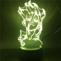 Manga-LED-Nachtlicht für Schlafzimmerdekor Kinder-Geschenk Acryl 3D-Lampe-Illusion-Nachtlicht mit Sensor