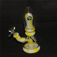 """hookahs Glass bong Smoking water pipe solo eye alien Tobacco Silicone Pipes 7.8"""" Cool Monster bongs"""