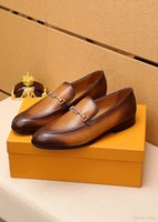 Q1 Design di lusso Mens Oxford Lace Up Split Toe Coffee Black Office Wedding Formal Men Dress Shape Shoes Suede Patchwork Scarpe in pelle da uomo 22