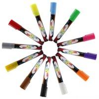 Lwik 화이트 보드 형광 참고 도면 브러시 번호 색상 아기 그림 수채화 그림 펜 지울 수있는 액체 분필 Led 형광 펜