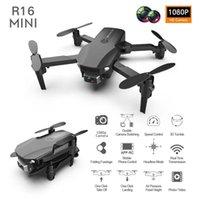 Drones 2021 R16 Mini Drone 4K Cámara profesional HD WiFi FPV Presión de aire Air Presión fija Altura Four-Eje RC Helicóptero Dron Juguetes