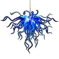 Светодиодные лампы Crystal Crystal Luxury Light Art Deco Murano Glass Blue Color Hapore Освещение Украшения Светильники Подвеска Света Luster Nordic Личность Лампа