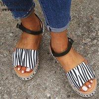 2020 senhoras sandálias mulheres plataforma casual sapatos mulheres tamanho grande 43 moda casual fivela plataforma plataforma sandálias sapatos romanos sapatos de dama de honra bombas sho n1hy #