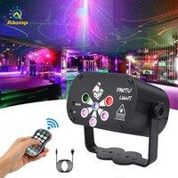 Patterns 60 120 LED-Laser-Beleuchtung USB aufladbare RGB UV-Stadiums-Projektor-Lichter für Disco DJ KTV-Party-Geburtstags-Dekor