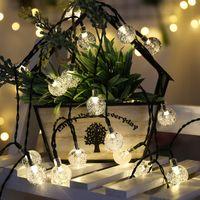 Solar String Lights Outdoor,Crystal Globe Light ,8 Lighting Modes Fairy Lights, Waterproof Solar Powered Patio Lights for Garden Yard Party Decor In Stock