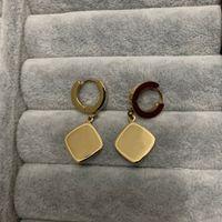 20 mezcla de diseño boda 316L titanio acero 18k rosa chapado en oro navidad marrón flor letra pendientes cuello cuello niñas mujeres joyería