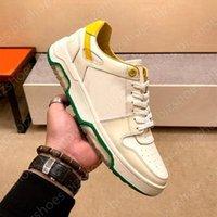 Scarner Sneaker in pelle di vitello Bianco Verde Casual Scarpe Casual Run Away Mens Skate Sports Scarpa Vintage Lussurys Designer Sneakers Scarpe da ginnastica Scarpe da ginnastica