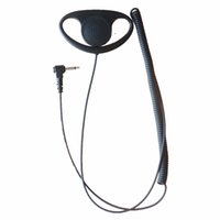D Shape Ascolta solo Auricolare per auricolare per Motorola HT750 HT1250 BPR40 CP110 CP150 CP200 CP200 3.5mm Jack Plug Walkie Talkie Radio