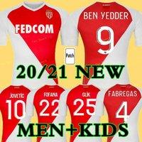 2021 أعلى جودة كما موناكو بن يادن لكرة القدم الفانيلة Jovetic golovin 20 21 مايوه دي القدم aguilar fabregas كرة القدم قميص الرجال الاطفال