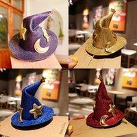 Halloween Costume Gioielli Star Moon Wizard Cappello Cappello Non ferire Headdrs Pin Girl Top clip Ornamenti di capelli divertenti